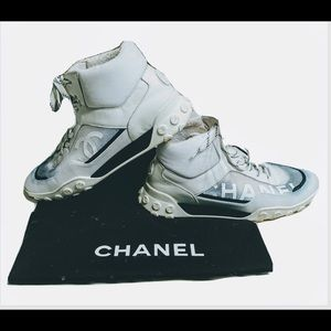 Chanel Logo CC Hightop Sneakers Trainers